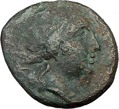AMPHIPOLIS 168BC  Ancient Rare Greek Coin ARTEMIS Diana Hunter GOATS  i22661