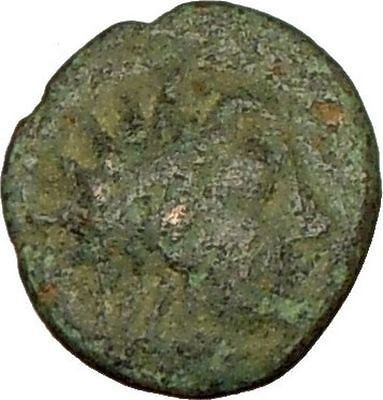 Myrina Asia Minor 350BC   Rare Ancient Greek Coin Helios Sun God Amphora i17955