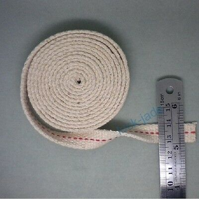 20 feet FLAT COTTON KEROSENE OIL LAMP WICK  Width 1/2 inch new 20 FT LENGTH