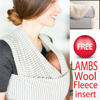 BABY SLING WRAP CARRIER  COOL SUMMER COTTON by LIBERTY BABY SLINGS UK