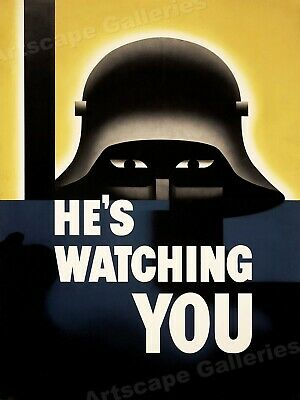Keep Your Trap Shut 1942 WWII Poster Photo 8x10