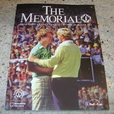 TOM WATSON SIGNED 2012 The Memorial Official Program w/COA