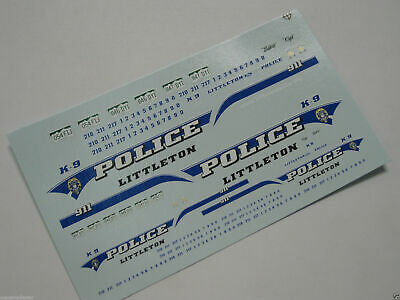 Code 3 1/43 & 1/24 Police Decals - Littleton CO Colorado