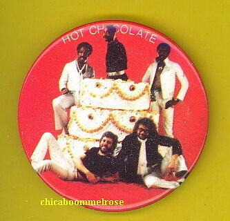 Hot Chocolate 1977 Uk pinback button badge NN FRYING PAN