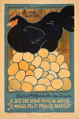Poultry of War! French World War 1 Poster - 20x30