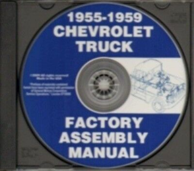 CHEVROLET 1955, 1956, 1957, 1958 & 1959 Truck Assembly Manual CD
