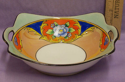 Vintage Meito China Handpainted Handled Bowl Made in Japan