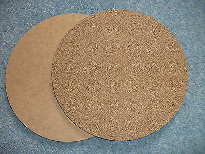 Pizza And Hot Mats For Table And Kitchen - Cork Faced- Pack Of 10 Mats