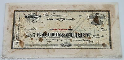 San Francisco 1920s Gould & Curry Mining Co 1000 Shares - UNISSUED - Virginia NV