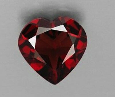 Masterpiece Collection: Heart Faceted AAA Natural Rhodolite Garnet (4x4-8x8mm)