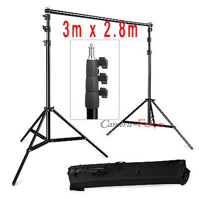 9FT x 10FT 2.8m x 3m Photography Photo Studio Background Backdrop Support Stand