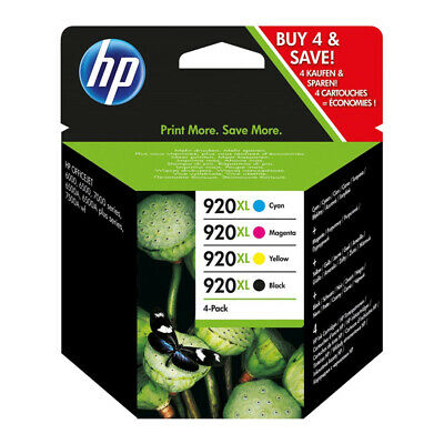 4x HP 920 XL ORIGINAL OFFICEJET 6000 6500 7000 7500 PRO TINTE PATRONEN SPAR SET