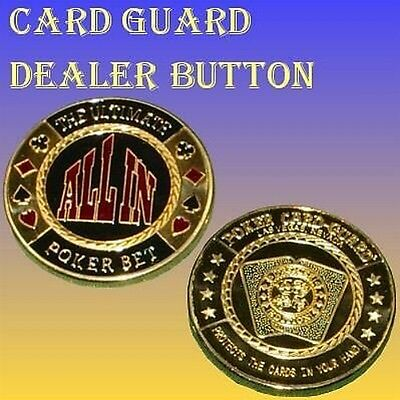 Poker Dealer Button ALL IN / Card-Guard / Chips Guards