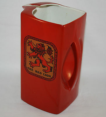 ART DECO CARLTON WARE THE RED LION PUB PITCHER, AVERTISING