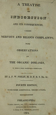 A Treatise on Indigestion 1824 leather bound