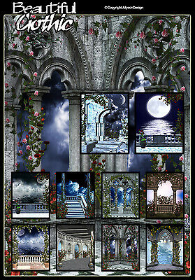 "Digital Photography ""BEAUTIFUL GOTHIC"" Fantasy Backgrounds Studio Backdrops"