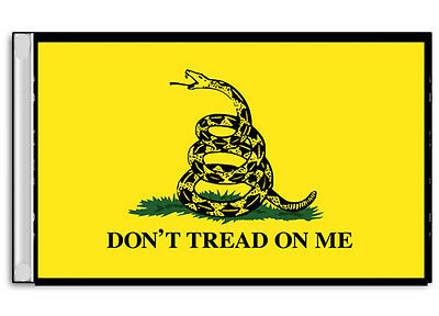 """Small Biker Flag Double Sided  Motorcycle  Snake Don't Tread On Me  6"""" X 9"""""""