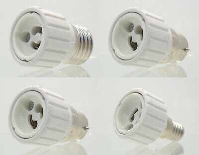 10X B22/B15/E27/E14 to GU10 LED/CFL Light Lamp Adapter Converter Edison Bayonet