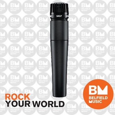 Shure SM57 Microphone Dynamic Instrument Mic Cardioid SM-57 - Authorized Dealer