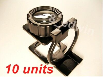 10 Units Professional 10x Mag  Heavy Steel Linen Testers - Great value !!