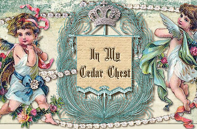 Shabby Vtg Chic Cherubs Angels Jewelry Pink Roses Ebay Auction Template Listing