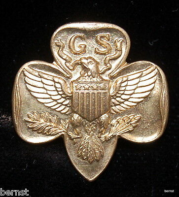Vintage Girl Scout Ww Ii 1942-45  Type 6B Stamped, Magnetic Membership Pin