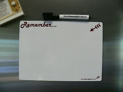 A5 Small Magnetic Fridge Whiteboard Family Office Memo Message Reminder + 2 Pens