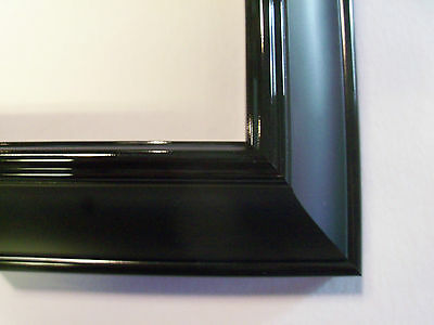 """Black/Black 1.8"""" Wide 1.8"""" Deep Canvas Picture Frame-Custom Made Square Sizes"""