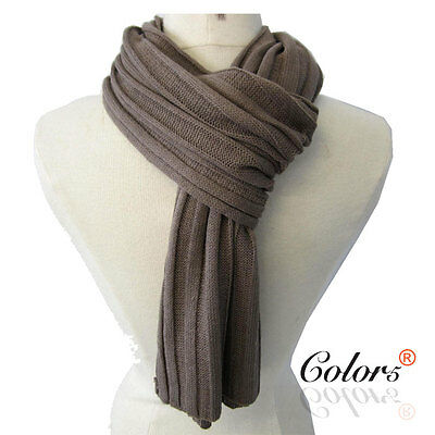 NEW Men Knit Soft Winter Long Causal Fashion Scarf