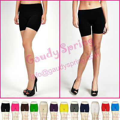 2 PCS New Basic Plain Stretch Yoga Leggings Lady Bike Pants Mini Shorts XS S M L
