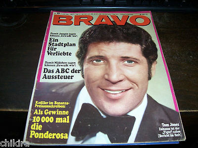 Tom Jones - On Cover + 7 Pages Full Color Tom Jones Special. Bravo # 25 1968