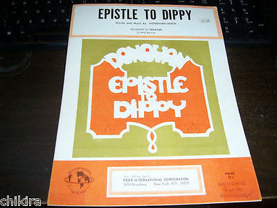 "Donovan ""epistle To Dippy"" + ""there Is A Mountain"" 2 X Usa Sheet Music"