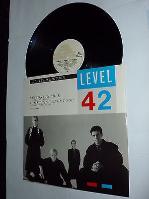 """LEVEL 42 - Lessons In Love - 1986 UK limited edition 3-track vinyl 12"""" single"""