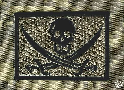 AFSOC COMBAT CONTROL DEATH on CALL SHOULDER VeIcrô PATCH: CALICO JACK SKULL ACU
