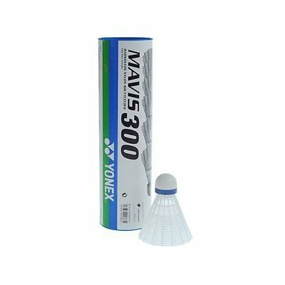 Yonex Mavis 300 Badminton Shuttlecocks White Medium Speed Tube of 6
