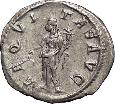 SEVERUS ALEXANDER Silver Ancient Roman Coin Equality Cult Wealth symbol  i28586