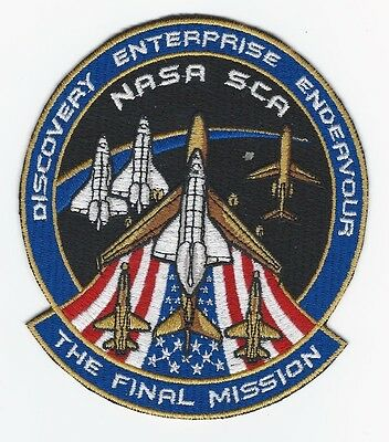 Final Mission NASA SCA Patch Space Shuttle Discover Enterprise Endeavour Made US