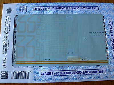 Microscale decals N 60-4227 Canadian National modern cabooses Noodle Scheme  L53