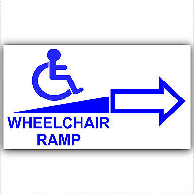 Wheelchair Ramp Access Sticker Sign-Disabled,Disability,Mobility- Right Arrow