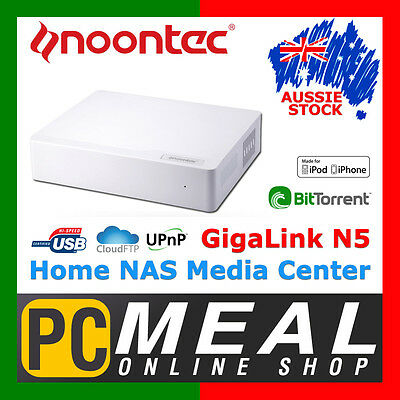 Noontec N5 Home NAS Media Center GigaLink Network Cloud Storage Server USB