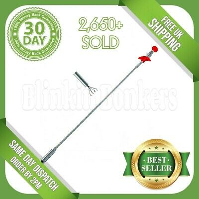 "Flexible 24"" Spring Bendy Long Reach Claw Pick Up Hand Tool Lifting Grab Grabber"
