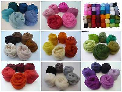 Heidifeathers® Merino Felting Wool Colour Shade Packs - Felting and Spinning