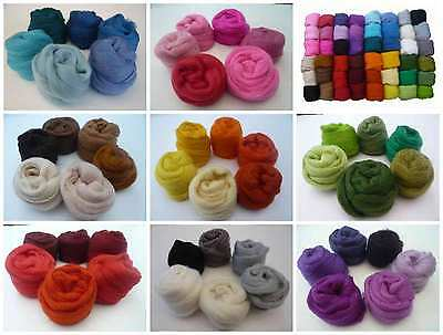 Heidifeathers Merino Felting Wool Colour Shade Packs - Felting and Spinning