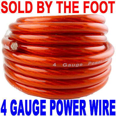 4 GAUGE AWG WIRE RED POWER/GROUND NEW BY THE FOOT FT FAST FREE SHIPPING!