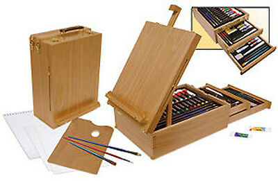 Royal Langnickel 104 Piece Wooden Easel Box Set contains all Media