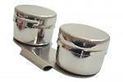 Metal Dipper with Lids - Double