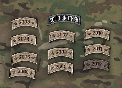 SEAL SP OPS AFSOC TACP COMBAT CONTROL burdock TAB: Theater Stationed Year 2009