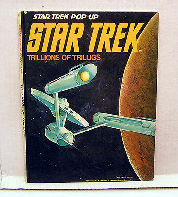 Trillions of Trilligs 1975 Star Trek Pop-Up Book-All Pop-Ups Work (L7753)