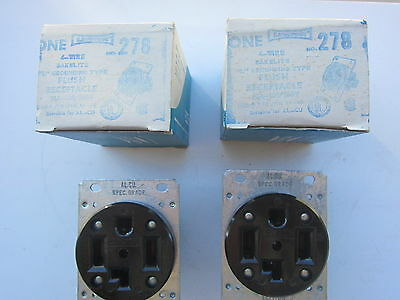 Leviton 278 30A 125/250V Straight Blade Receptacle 14-30R Lot of 2, New