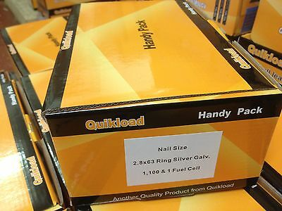 1  28/63 Ring Galv Budget Pack For Paslode Im350 1100/1 Cell Free Delivery